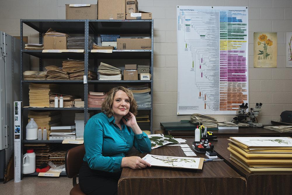 Dr. Quave in the herbarium
