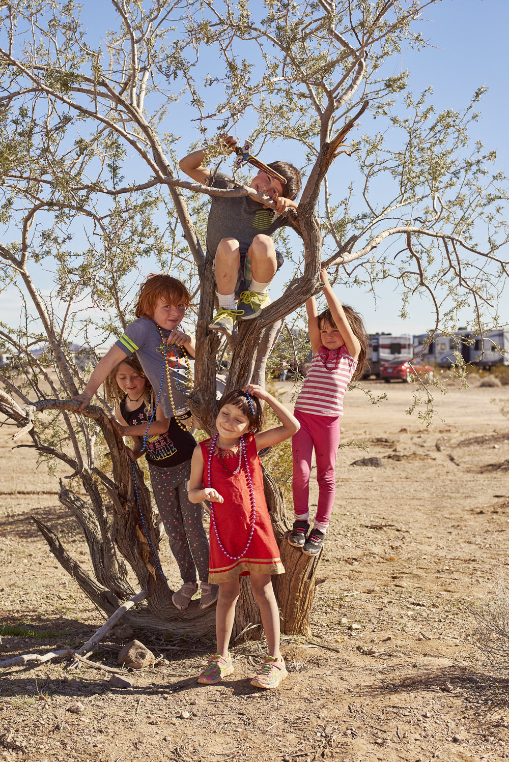 "Feature for LeMonde Magazine FR about ""Snowbirds"" in Arizona. Quartzsite Arizona usually has an official population of around 3,000, but in January, the city can accommodate more than 150,000 people and between October and March, it sees nearly a million and a half of residents that are more or less temporary. The city and its dozens of BLM campsites and the desert around form a temporary community. The thousands of motorhomes, vans, busses and caravans of the so-called ""snowbirds,"" who are often retired and escaping harsh winters in the mid-west and Canada. An added benefit of traveling south for winter is that these often retired snowbirds can head a couple hours further south to Los Algodones Mexico, where they can receive dental, medical procedures and pharmaceuticals at a fraction of U.S. prices"
