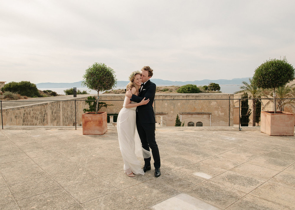 Wedding in a Spanish Island Fortress - Cap Rocat, Mallorca