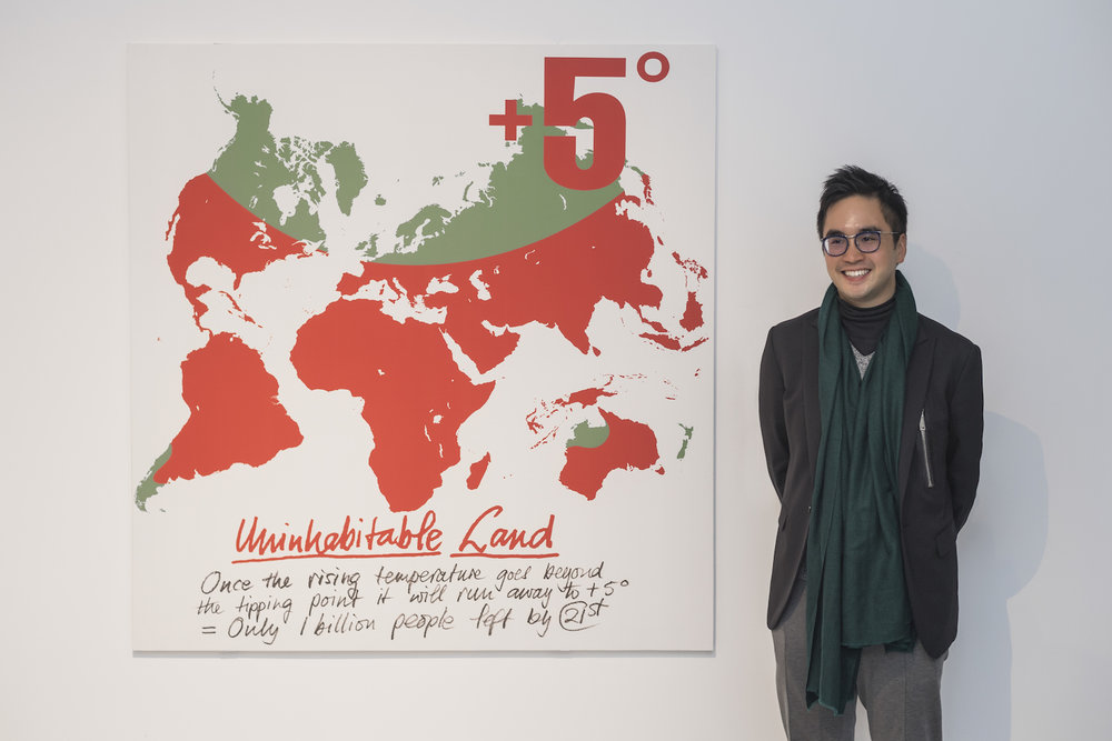 Adrian Cheng with +5º World Map at K11 Art Mall Shanghai