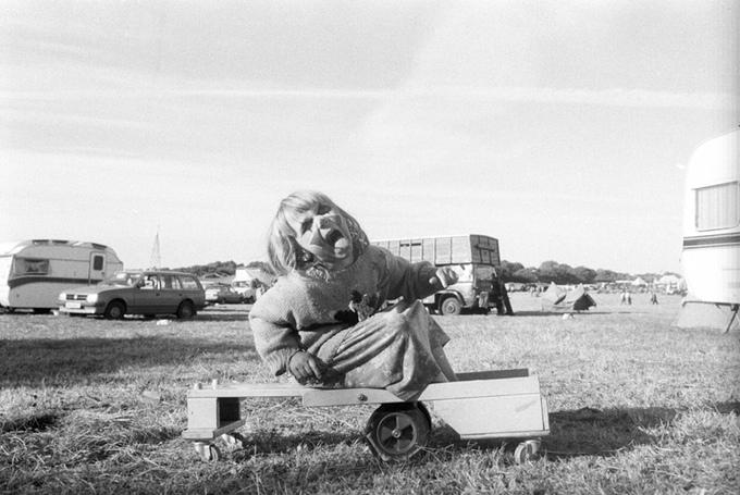 Clown Girl, Harvest Fayre Cilgerran Wales 94