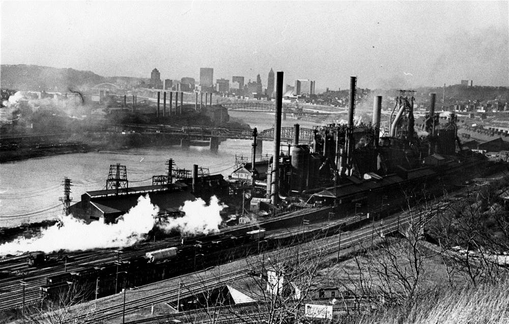 Pittsburgh's Jones and Laughlin Steel Works in 1967