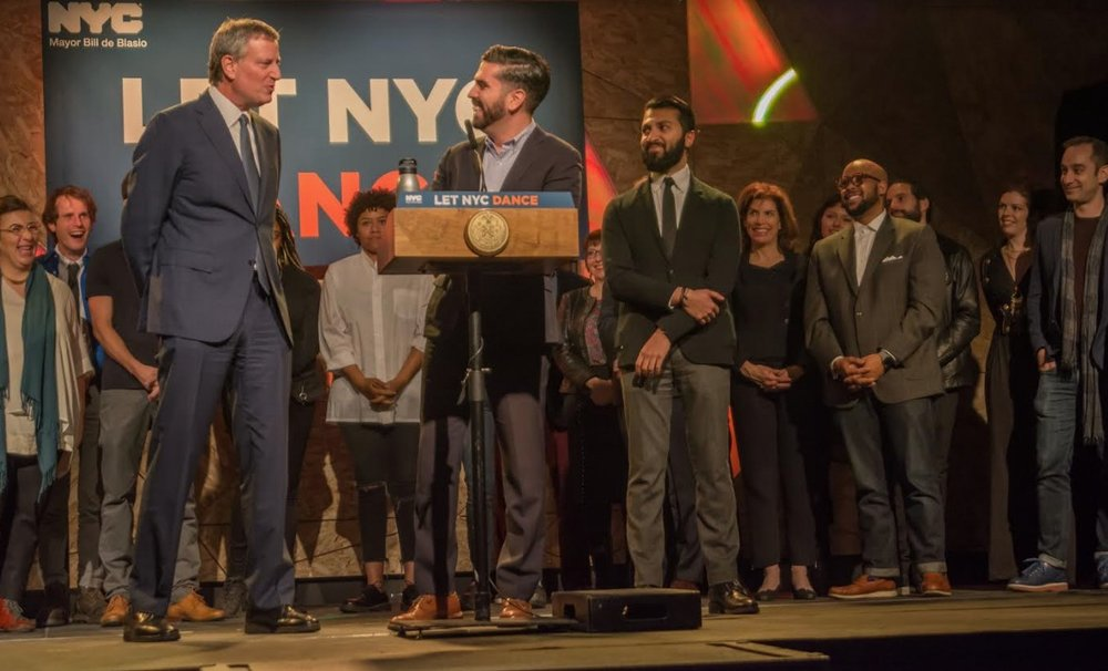 With Mayor de Blasio signing the repeal of the Cabaret Law, via  Brooklyn Daily Eagle