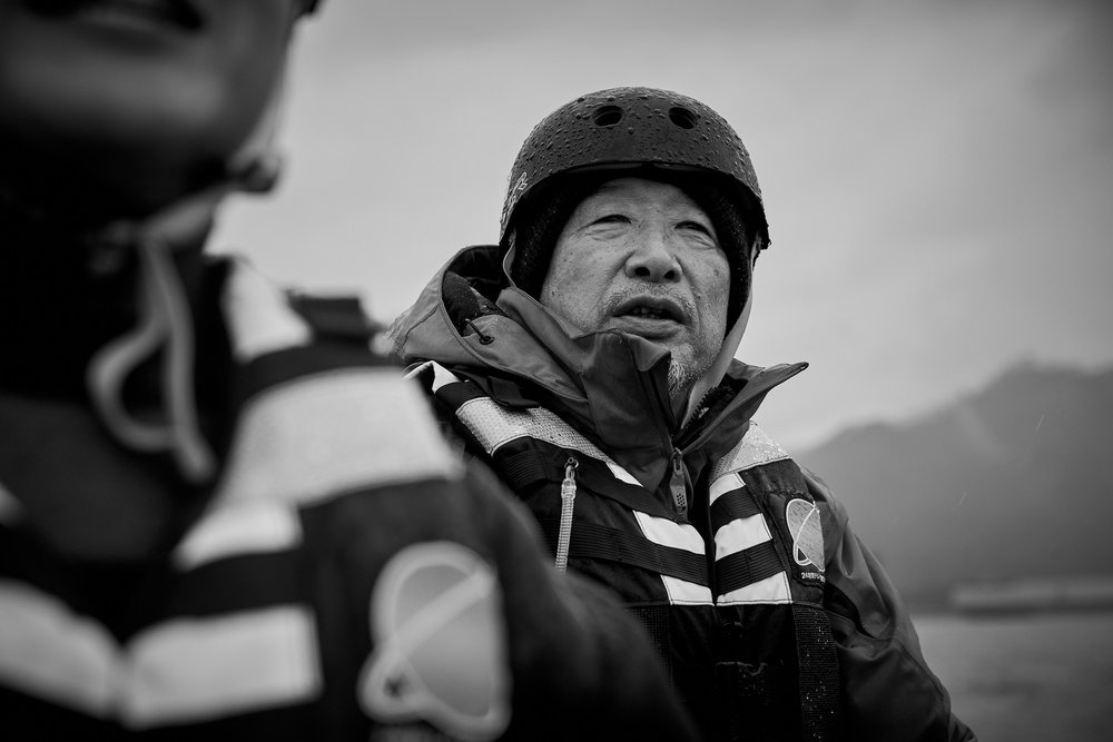 Captain of the lifeboat, Masaru Miura ( 三浦勝 )