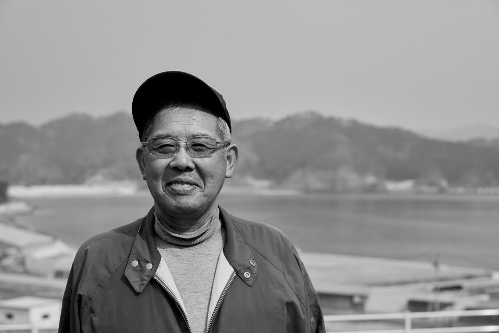 Shoschichi Maekawa (前川昭七), a local fisherman, who lost his daughter in the disaster