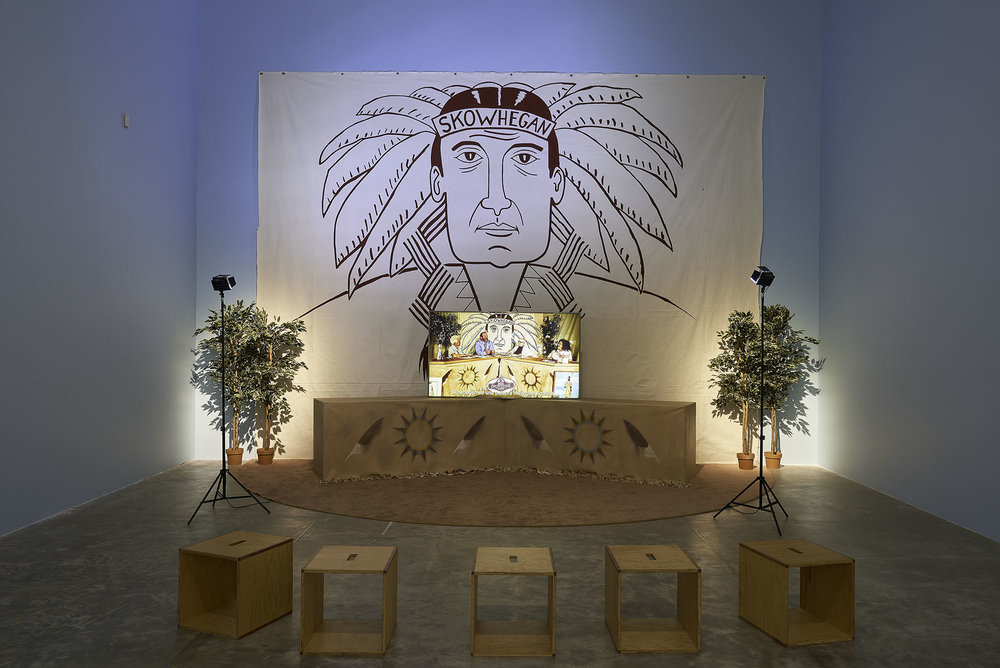 The Indian Project Installation View MUAC. Courtesy of Okon Studio.