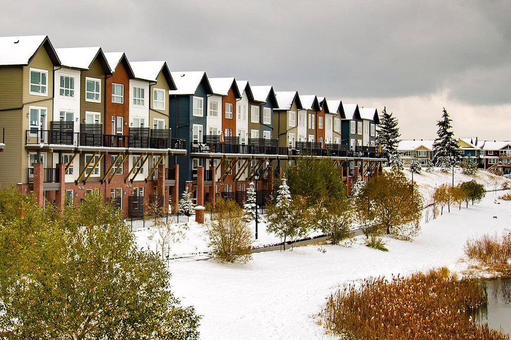 Slokker's Juno Townhomes in Griesbach Edmonton by Casola Koppe