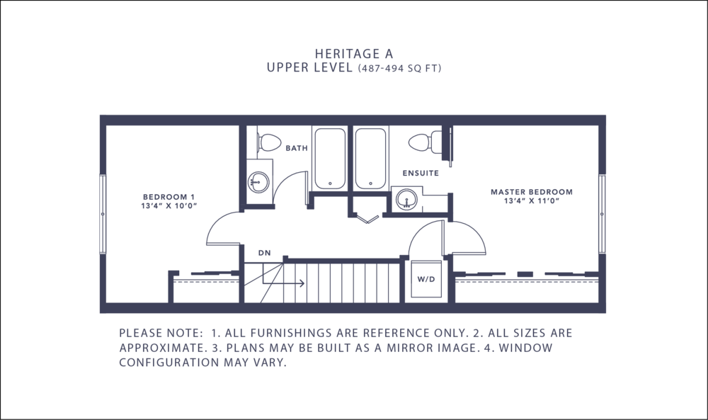 Heritage A Floorplan - Upper Level