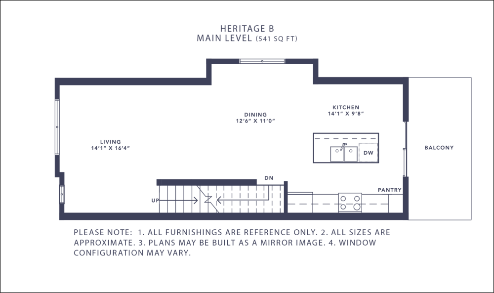 Heritage B Floorplan - Main Level