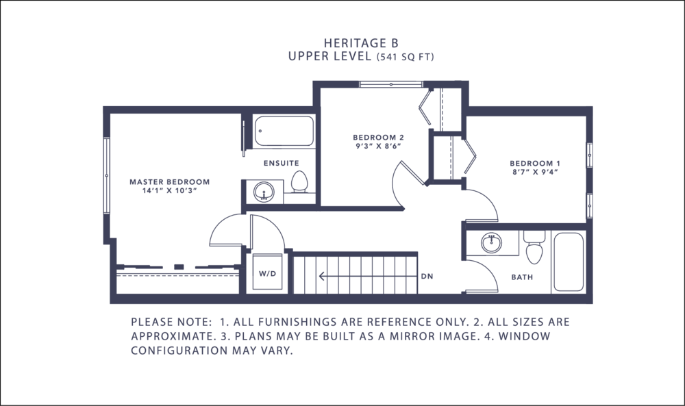 Heritage B Floorplan - Upper Level