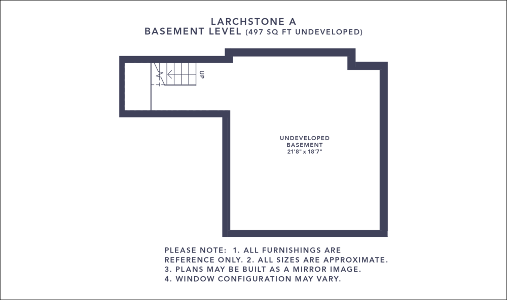 Larchstone A Floorplan - Basement Level