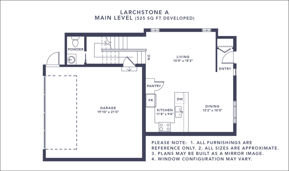 Larchstone A Floorplan - Main Level