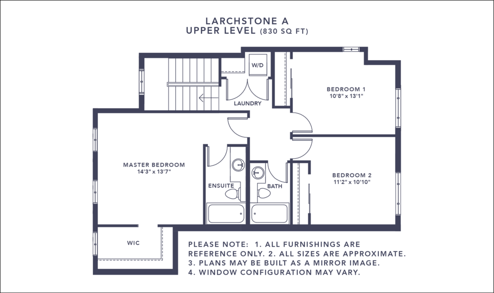 Larchstone A Floorplan - Upper Level