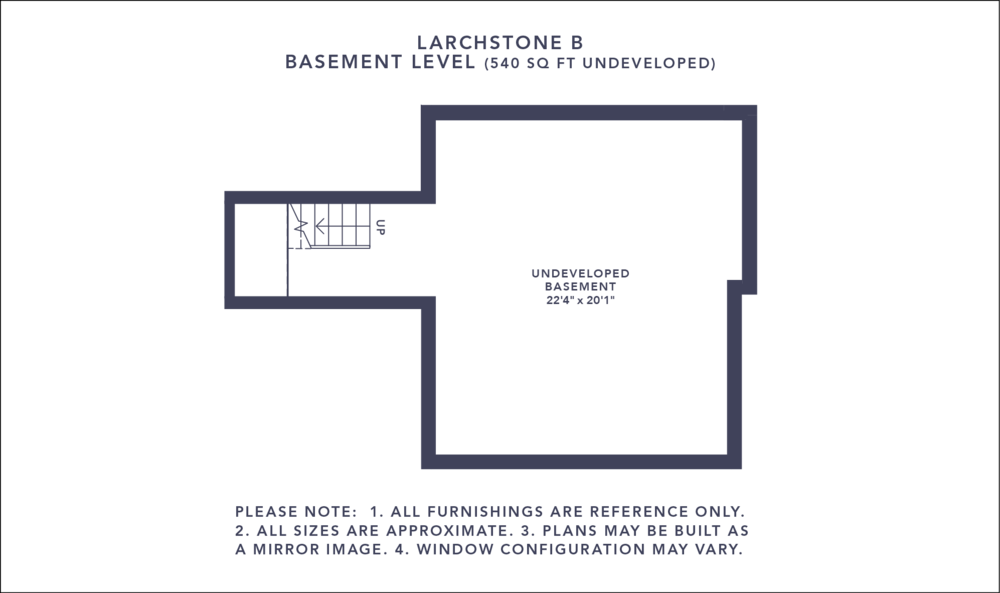 Larchstone B Floorplan - Basement Level