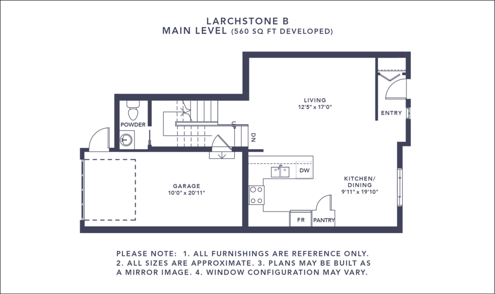 Larchstone B Floorplan - Main Level