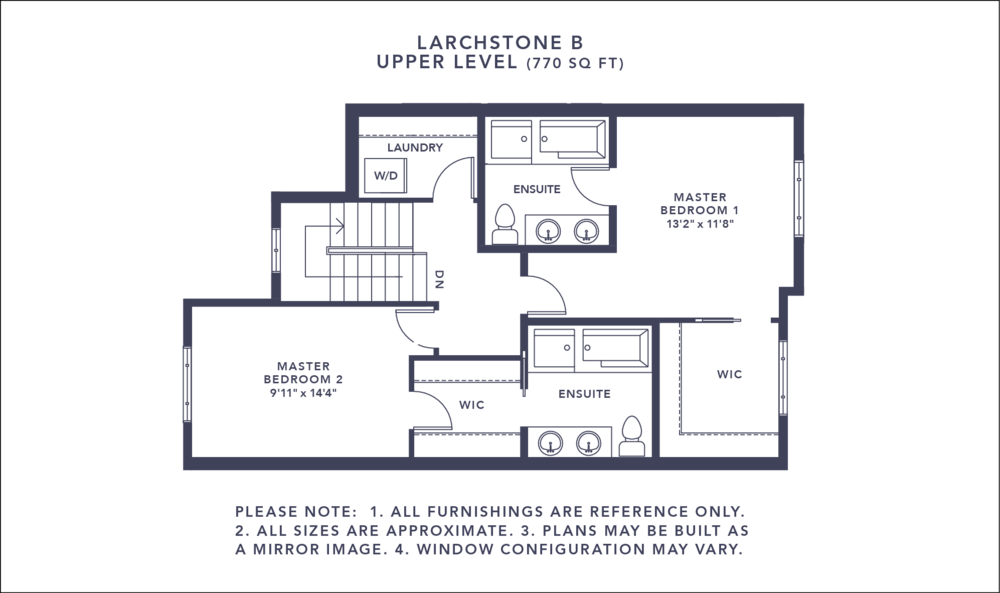 Larchstone B Floorplan - Upper Level