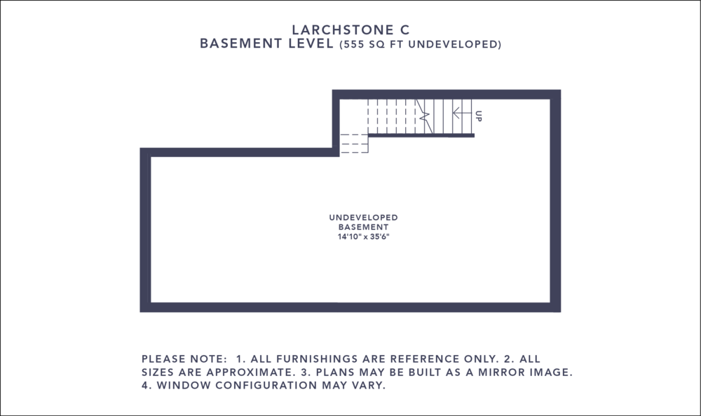Larchstone C Floorplan - Basement Level
