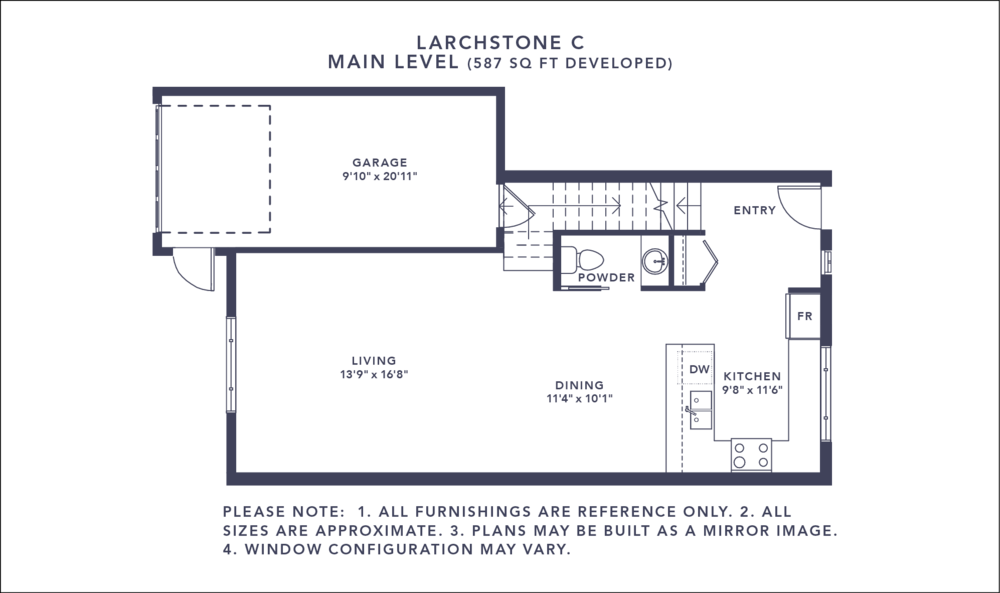 Larchstone C Floorplan - Main Level