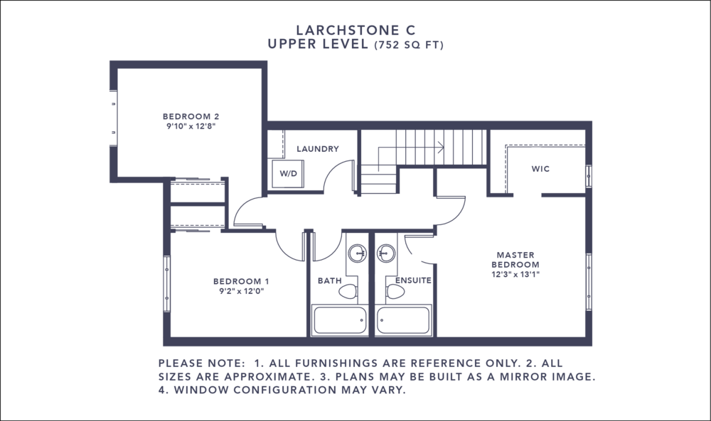 Larchstone C Floorplan - Upper Level