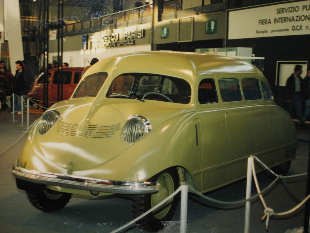 Stout Scarab on display in Genoa, Italy