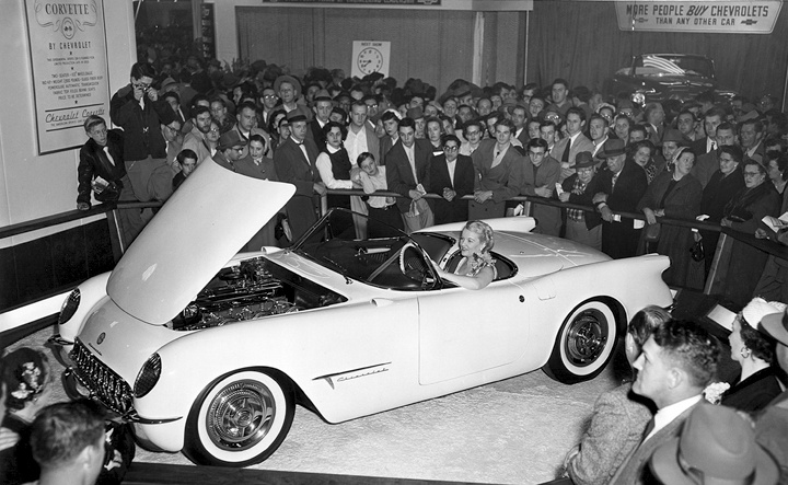1953 Chevrolet Corvette debuted at the New York Auto Show