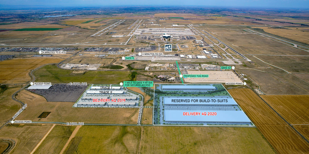 JAG Logistics Center at DIA located directly south of the airport, will be built in a confirmed opportunity zone.