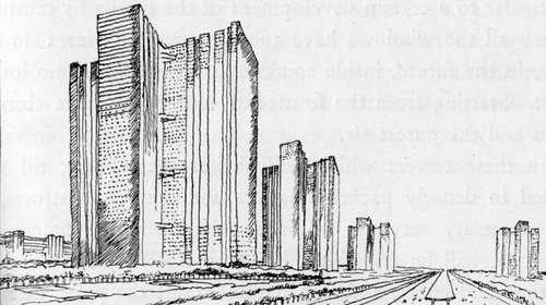 City of Towers Sketch - Le Corbusier - 1923