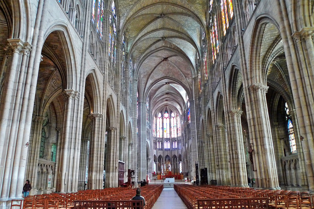 Interior of St. Denis Cathedral
