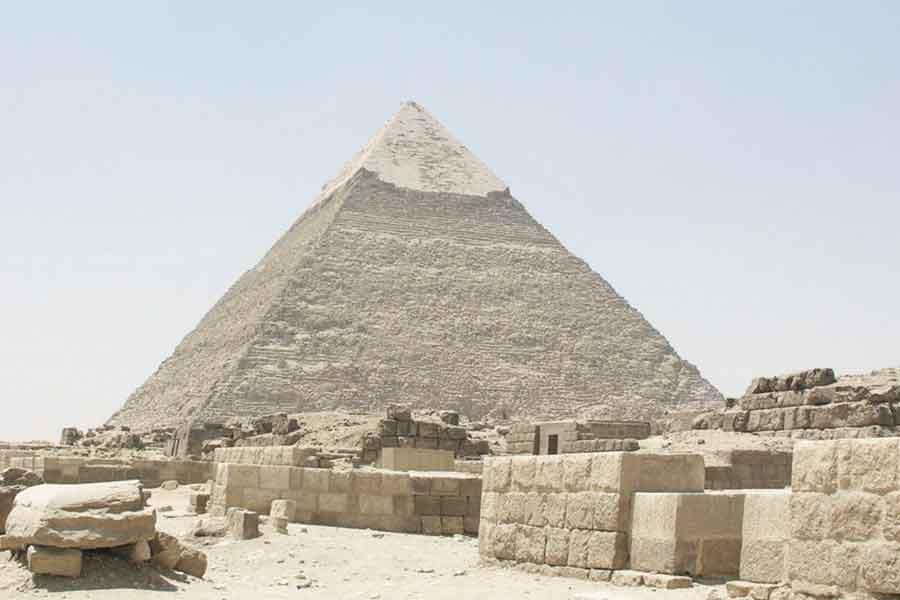 The Great Pyramid of Giza in Luxor.