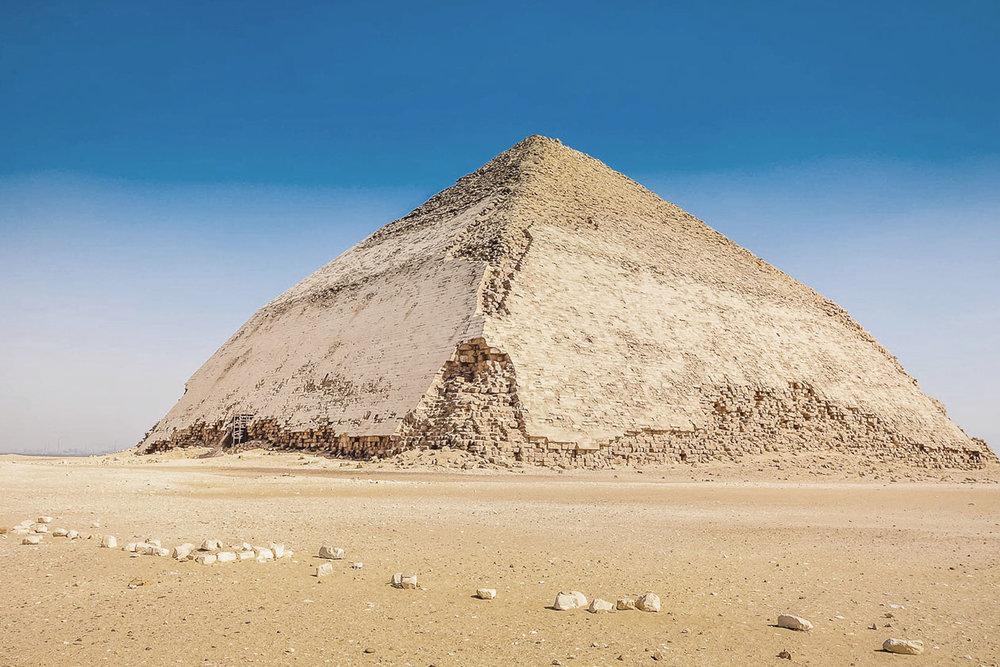 Bent Pyramid at Dahshur-2600 BC