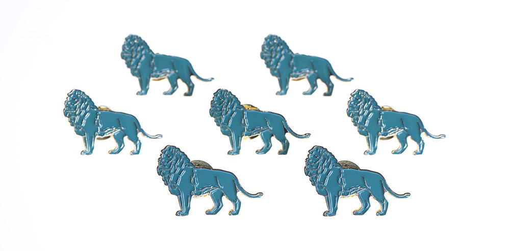 Lapel Pins: Recreated a vector of the Art Institute lions.