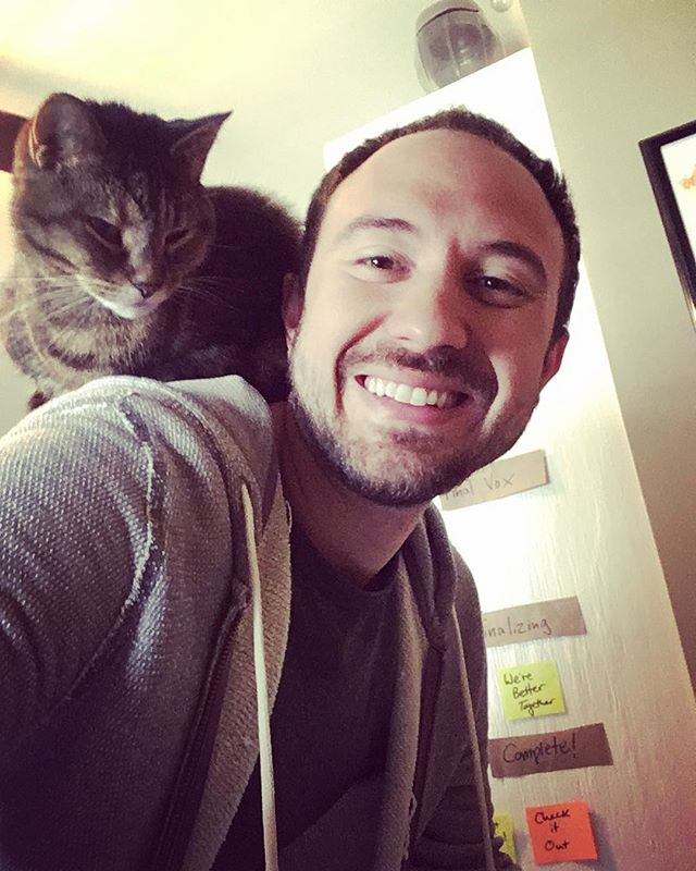 Trying to write, but Benny seems to be going through a parrot phase... #musiccat #whataweirdo #songwritingsession #weloveheranyway