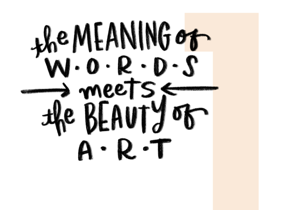 Hand Lettering Is Where The Meaning Of Words Meets Beauty Art