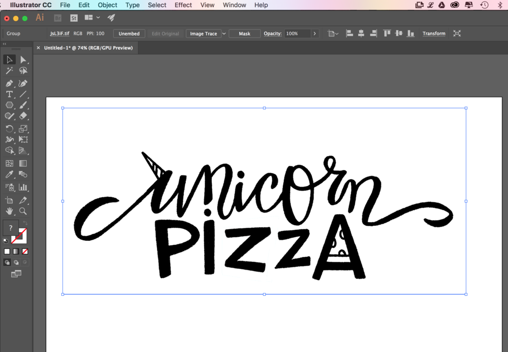 Use The Live Trace Tool To Convert Your Pixel Sketch From Photoshop Into A Vector Graphic