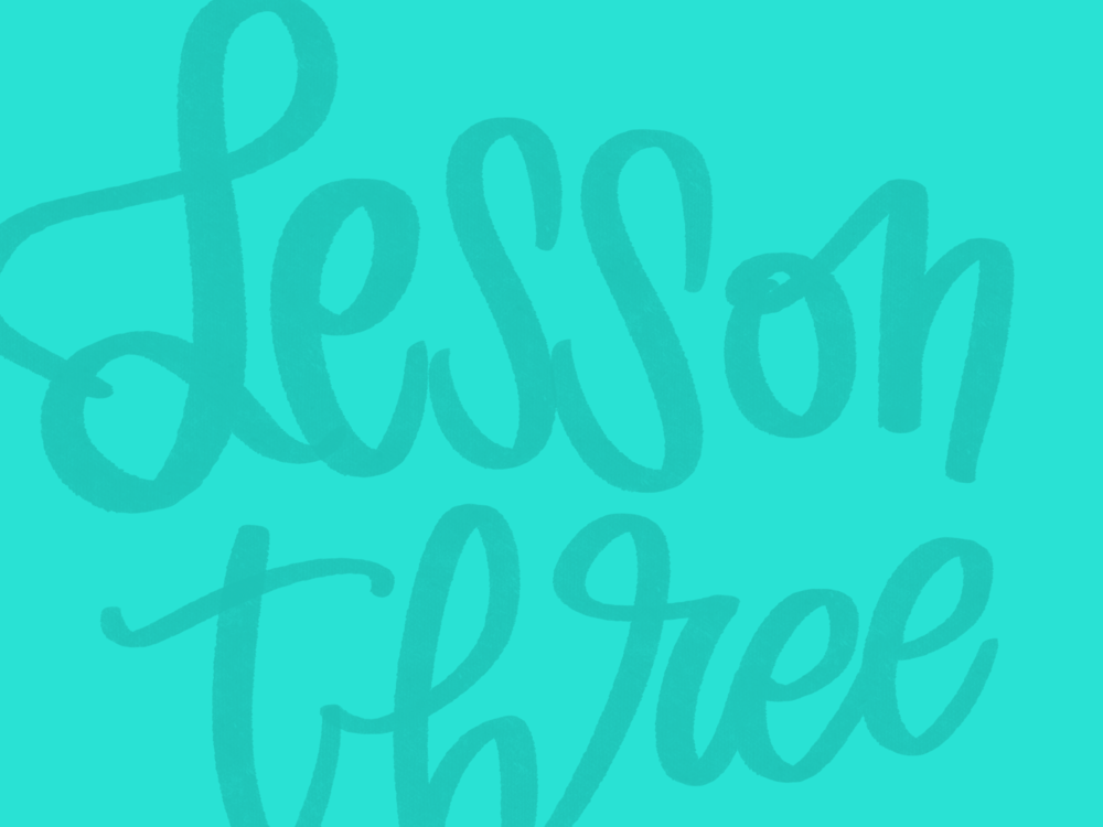 LESSON THREE:Let's Start Lettering!The Basic Techniques - Once you know everything Procreate can do, in this lesson I walk you through the process of using those features to create a basic hand-lettered piece: