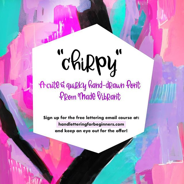 "Hey friends! Sorry we've been MIA over here, but we've been hard at work optimizing and preparing content so we can bring you the best hand lettering resources out there in the near future!⠀⠀ . ⠀⠀ For now I wanted to tide you over with something fun and newly available -- I finally created a font! ""Chirpy"" is a cute and quirky font based on my own signature hand lettering style. But it's not available to the public (yet!) ⠀⠀ .⠀⠀ The only place you can get it is as a bonus by signing up for the improved email course on hand lettering at ➡️handletteringforbeginners.com (link in profile). To sign up, just head to the home page and pop in your email address. Enjoy the four day email course and if you decide to enroll in the #BetterLetteringCourse, you'll get Chirpy as my happy little bonus for free! ☺️⠀⠀ .⠀⠀ It was super fun creating it and hopefully I'll add a bonus module to Better Lettering Course in the future with step by step instructions on how you can create your own font from your hand-lettering! ⠀⠀ . ⠀⠀ Hope everyone's enjoying the start to the weekend. We'll be back with more fun stuff around here soon!⠀⠀ 👋@ckelso⠀⠀ .⠀⠀⠀⠀ .⠀⠀⠀⠀ .⠀⠀⠀⠀ #handletteredfont #freebiefont #freebiefriday #handlettering #lettering #handlettering #letteringco #madebyhand #goodletters #handletteredtype #drawletters #digitalart #handletteringforbeginners"