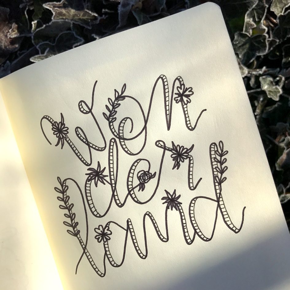 Lettering by Sarah Van Der Linden on Hand Lettering for Beginners