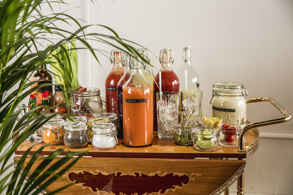 DIY BLOODY MARY TROLLEY BRUNCH - ISLINGTON