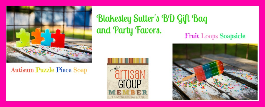 2014 Blakesly Sutter's Birthday Gift Bag and Party Favors