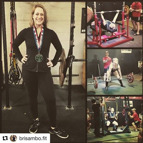 2018 APA Washington State Championship Meet . Only woman at the event, kicked some a$$. Made goal of the 300lb deadlift 👏🏻👏🏻👏🏻. Extremely proud of your accomplishment bri sambo! -