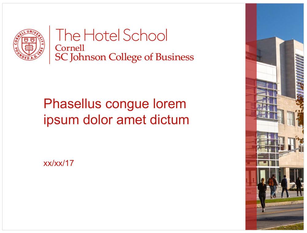 The Hotel School White PPT