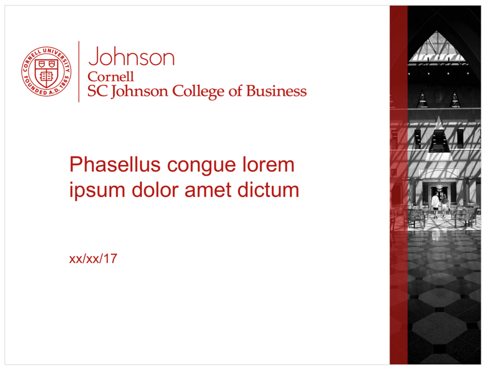 Johnson Templates Cornell Sc Johnson College Of Business Brand Guide