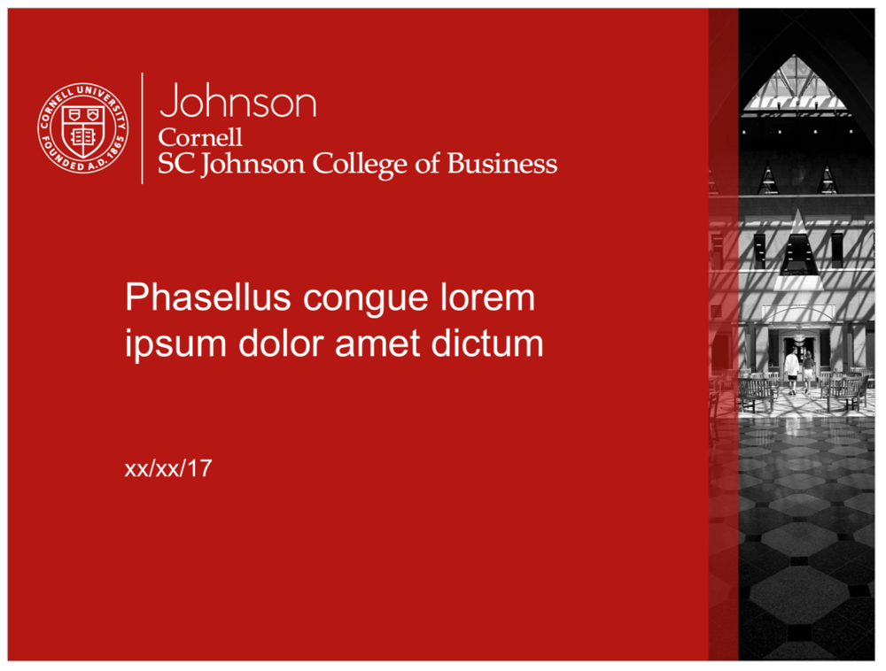 Johnson templates cornell sc johnson college of business brand guide johnson red ppt toneelgroepblik Choice Image