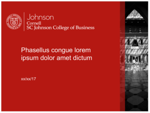 johnson templates — cornell sc johnson college of business brand guide, Modern powerpoint