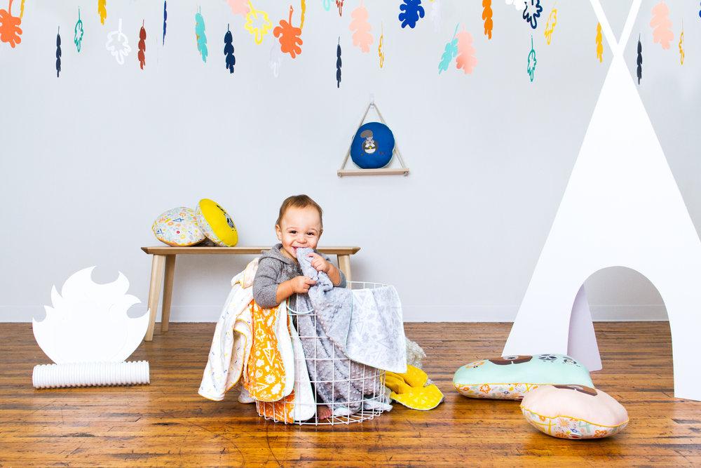 Product photo shoot for kid's brand Senn & Sons
