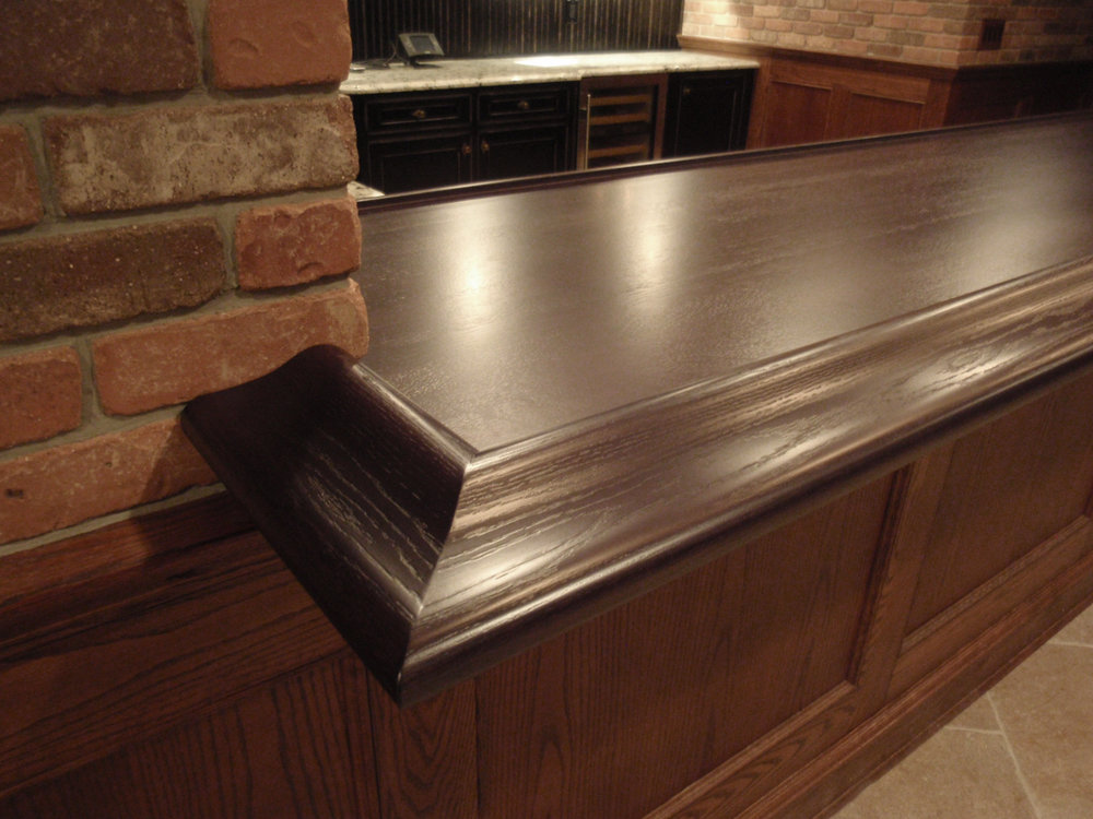 Walnut Bar Top with Waterproof Finish