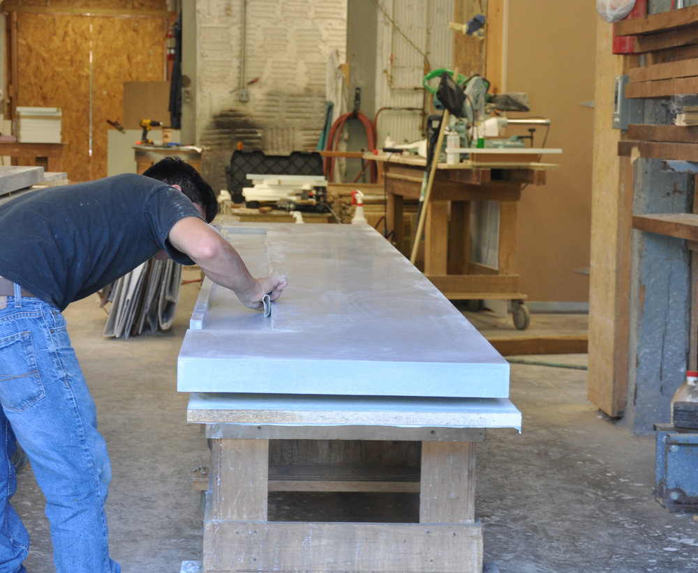 Concrete Bar Top Fabrication