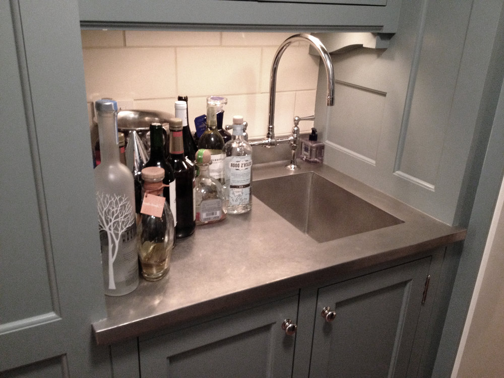 Pewter Wet Bar Top