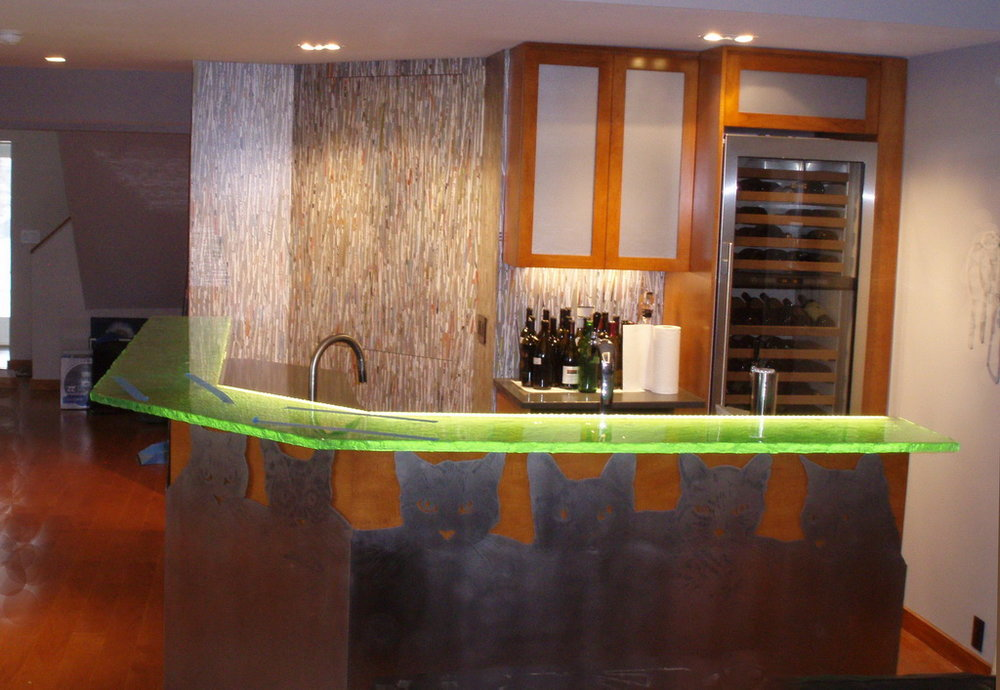 Fusion Glass Bar Top