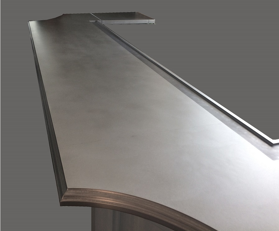 Zinc Artisan Cast Bar Edge